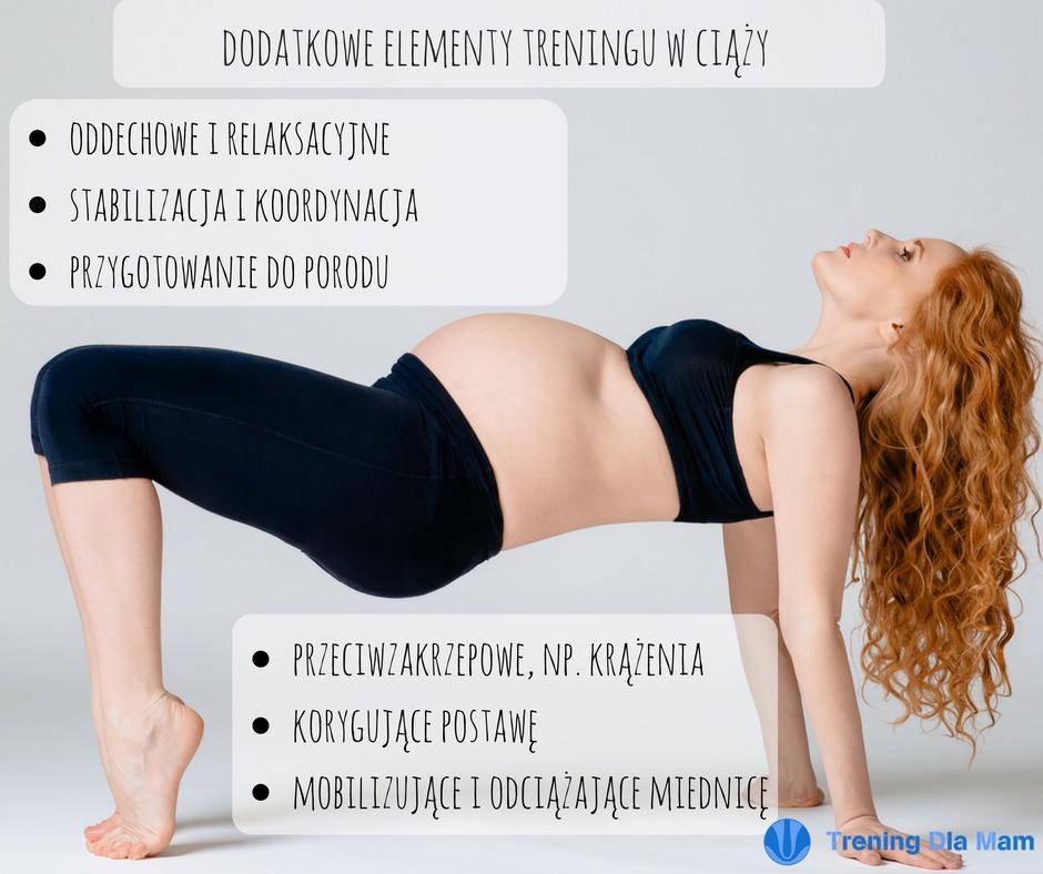 Kobieta w ciąży ćwiczy